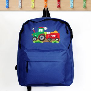 Tractor Blue Backpack For You Personalised Gifts P0710j26