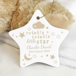 Twinkle Twinkle Ceramic Star Decoration For You Personalised Gifts P0805d68