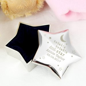 Twinkle Twinkle Star Trinket Box For You Personalised Gifts P0102u23