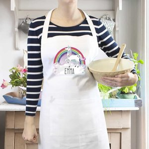 Unicorn White Apron For You Personalised Gifts P0510g24