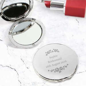 Vintage Rose Compact Mirror For You Personalised Gifts P0102t49