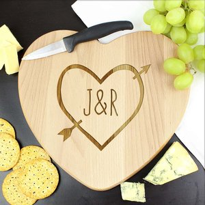 Wood Carving Heart Chopping Board For You Personalised Gifts P011470