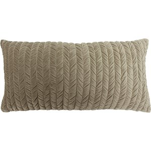 Paoletti Allure Rouched Soft Velvet Cushion Grey 770allu/8cc/gry Living Room, Grey