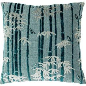 Paoletti Anji Velvet Jacquard Cushion Teal Anji/cc3/tea Living Room, Teal