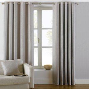 Paoletti Atlantic Twill Woven Eyelet Curtains Natural Atlanti/rt8/nat Curtains & Blinds, Natural