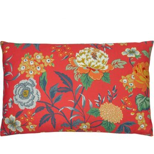 Furn. Azalea Floral Cushion Red Azalea/2cc/red Living Room, Red