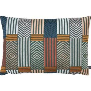 Prestigious Textiles Blake Geometric Cushion Autumn Blake/2cc/aut Living Room, Autumn