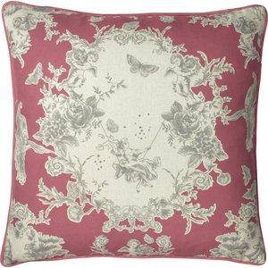 Paoletti Burford Floral Cushion Berry Burford/cc3/ber Living Room, Berry