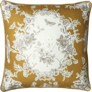 Paoletti Burford Floral Cushion Honey Burford/cc3/hon Living Room, Honey