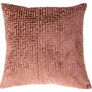 Paoletti Delphi Velvet Jacquard Cushion Blush Delphi/cc2/bls Living Room, Blush