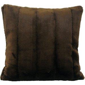Paoletti Empress Faux Fur Cushion Chocolate Empress/cc2/cho Living Room, Chocolate