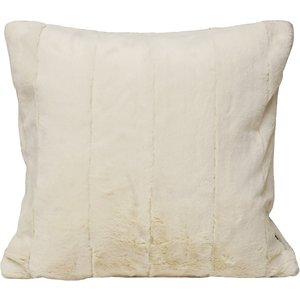 Paoletti Empress Faux Fur Cushion Cream Empress/cc2/cre Living Room, Cream