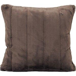 Paoletti Empress Faux Fur Cushion Taupe Empress/cc2/tau Living Room, Taupe