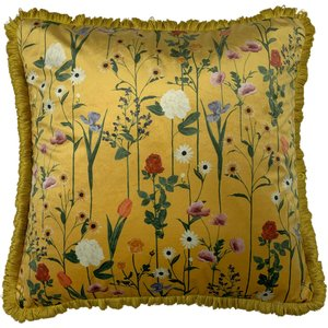 Furn. Fleura Floral Cushion Ochre Fleura/cc3/ocr Living Room, Ochre
