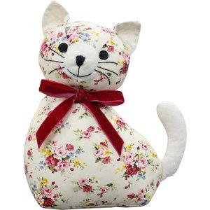Essentials Floral Cat Novelty Door Stop Multicolour Floraca/dst/mul Accessories, Multicolour
