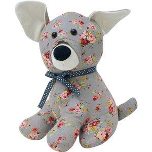 Essentials Floral Dog Novelty Door Stop Grey Floradog/dra/mu Accessories, Grey