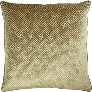 Paoletti Florence Embossed Velvet Cushion Gold Florenc/cc8/gld Living Room, Gold