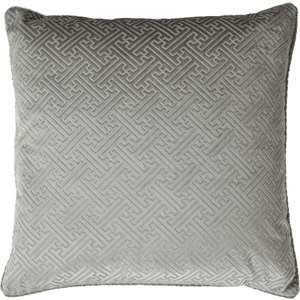 Paoletti Florence Embossed Velvet Cushion Silver Florenc/cc8/sil Living Room, Silver