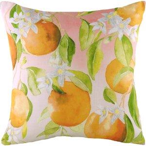 Evans Lichfield Fruit Oranges Printed Cushion Multicolour Frorang/cc2/mul Living Room, Multicolour