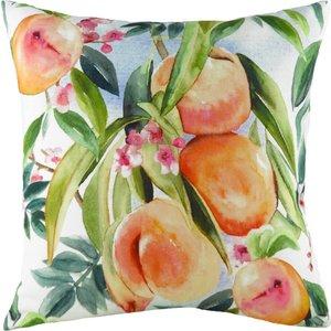 Evans Lichfield Fruit Peaches Printed Cushion Multicolour Frpeach/cc2/mul Living Room, Multicolour