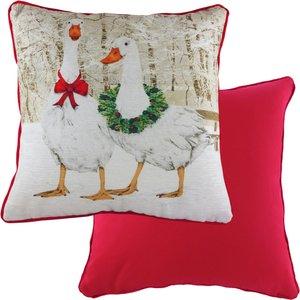 Evans Lichfield Goosie Velvet Chenille Printed Cushion Multicolour Goosiev/cc5/mul Living Room, Multicolour