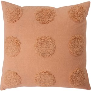 Linen House Haze Tufted Cushion Pink Lhhaze/cc5/pnk Living Room, Pink