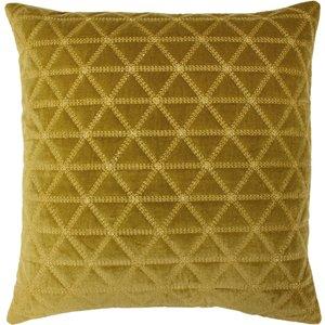Paoletti Imani Embroidered Velvet Cushion Gold 770iman/3cc/gld Living Room, Gold