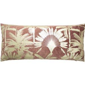 Paoletti Malaysian Palm Foil Printed Cushion Rose Malaysp/cco/ros Living Room, Rose