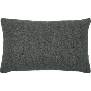 Furn. Malham Fleece Rectangular Cushion Granite Malham/3cc/gran Living Room, Granite