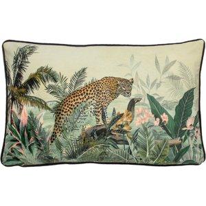 Evans Lichfield Manyara Leopard Rectangular Cushion Multicolour Manyara/3cc/leo Living Room, Multicolour