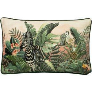 Evans Lichfield Manyara Zebra Rectangular Cushion Multicolour Manyara/3cc/zeb Living Room, Multicolour