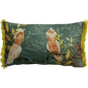 Furn. Mazari Exotic Jungle Cushion Teal Mazari/3cc/tea Living Room, Teal