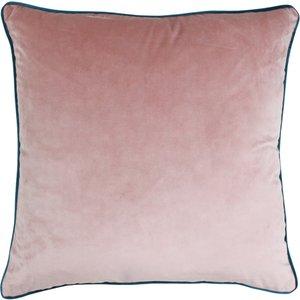 Paoletti Meridian Velvet Cushion Blush/teal Meridi/cc8/blte Living Room, Blush/Teal