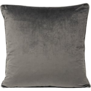 Paoletti Meridian Velvet Cushion Charcoal/dove Meridi/cc8/chdo Living Room, Charcoal/Dove