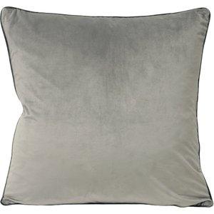 Paoletti Meridian Velvet Cushion Dove/charcoal Meridi/cc8/doch Living Room, Dove/Charcoal