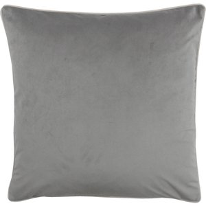 Paoletti Meridian Velvet Cushion Grey/blush Meridi/cc8/grbl Living Room, Grey/Blush