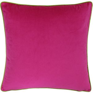 Paoletti Meridian Velvet Cushion Hot Pink/lime Meridi/cc8/hpli Living Room, Hot Pink/Lime