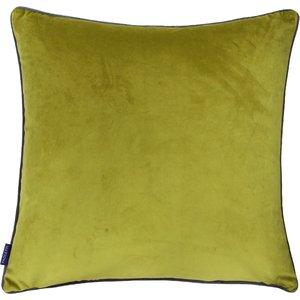Paoletti Meridian Velvet Cushion Moss/charcoal Meridi/cc8/moch Living Room, Moss/Charcoal