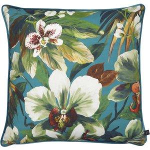Prestigious Textiles Moorea Floral Cushion Pacific Moorea/1cc/pac Living Room, Pacific