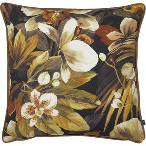 Prestigious Textiles Moorea Floral Cushion Papaya Moorea/1cc/pap Living Room, Papaya