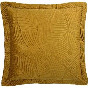 Paoletti Palmeria Quilted Velvet Cushion Gold Palmeri/cc8/gld Living Room, Gold