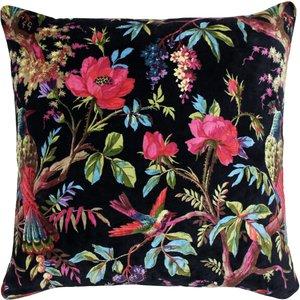 Paoletti Paradise Velvet Cushion Black Paradis/cc3/blk Living Room, Black