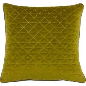 Paoletti Quartz Quilted Cushion Moss Green/taupe Quartz/cc2/mota Living Room, Moss Green/Taupe