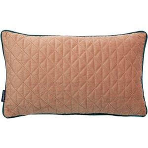 Paoletti Quartz Rectangular Quilted Cushion Blush/teal Quartz/3cc/bste Living Room, Blush/Teal