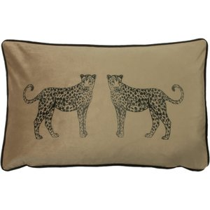 Evans Lichfield Savanna Leopard Rectangular Cushion Biscuit Savanna/3cc/bis Living Room, Biscuit