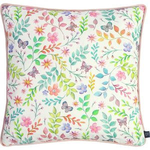 Prestigious Textiles Secret Garden Floral Cushion Candyfloss Sgarden/cc5/cfl Living Room, Candyfloss