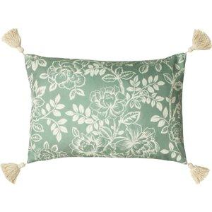 Paoletti Somerton Floral Cushion Sage Somerto/cc0/sag Living Room, Sage