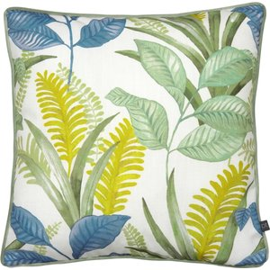 Prestigious Textiles Sumba Floral Cushion Waterfall Sumba/cc3/wat Living Room, Waterfall