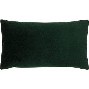 Evans Lichfield Sunningdale Velvet Rectangular Cushion Bottle Sunning/3cc/btl Living Room, Bottle