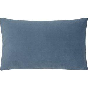 Evans Lichfield Sunningdale Velvet Rectangular Cushion Wedgewood Sunning/3cc/wed Living Room, Wedgewood